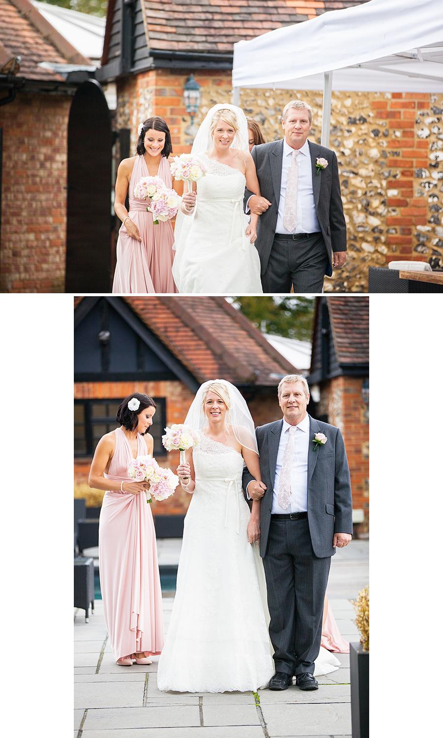 Sanctum on the Green Wedding Photographer , Sanctum on the Green Wedding, Sanctum on the Green, outdoor wedding, bride walking to wedding, bride and dad, bride and bridesmaids, bride walking to ceremony