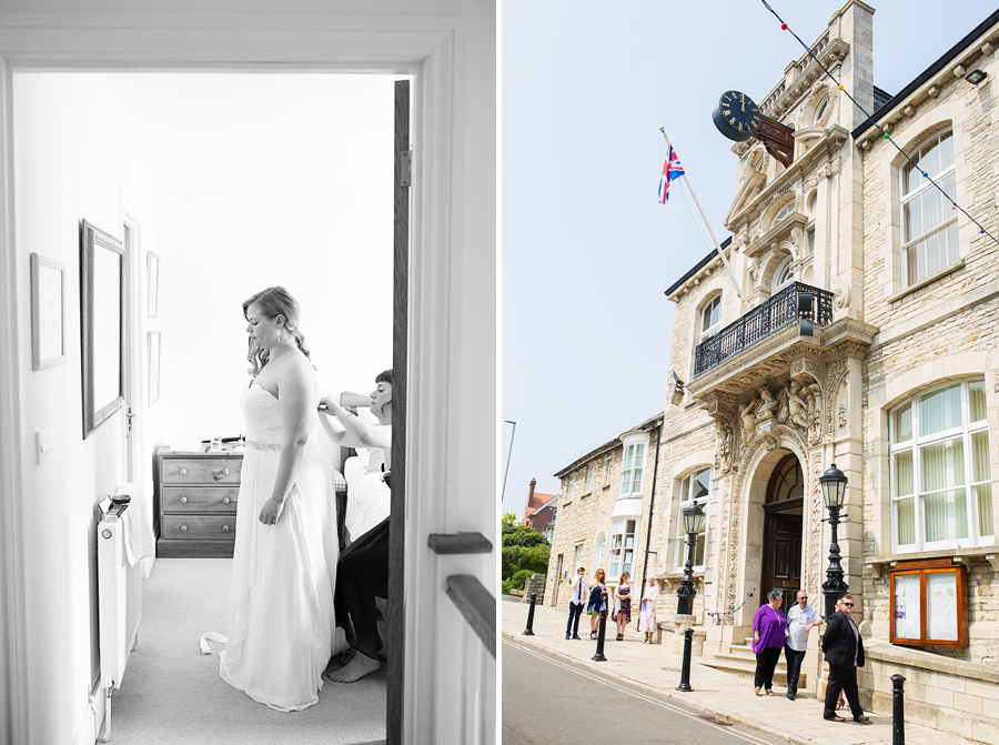 Swanage Town Hall Wedding Photos -005