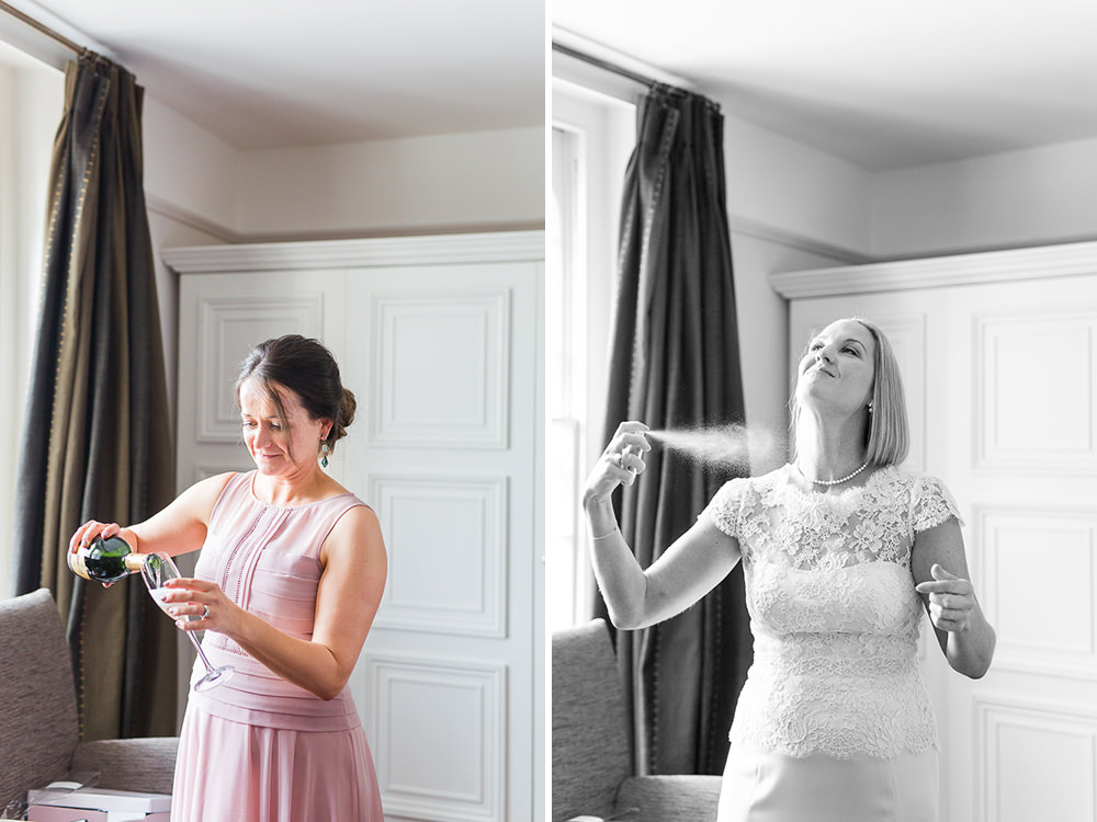 natural wedding photos of bride getting ready