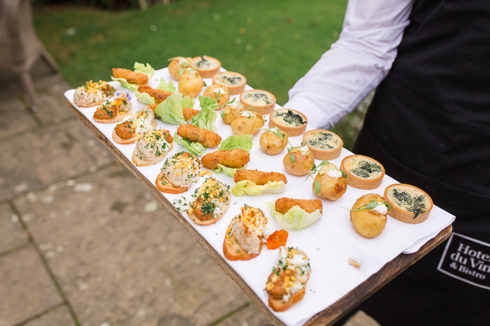 wedding day canapés