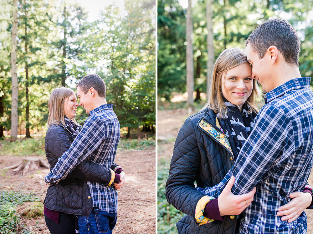 natural engagement photos in surrey