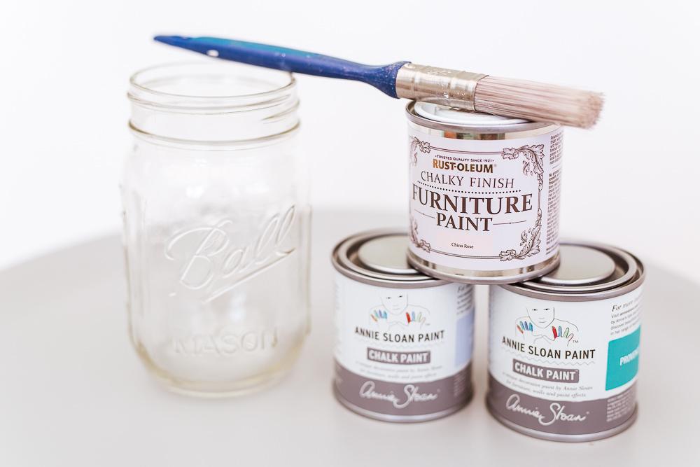 Maison jar DIY project with paint
