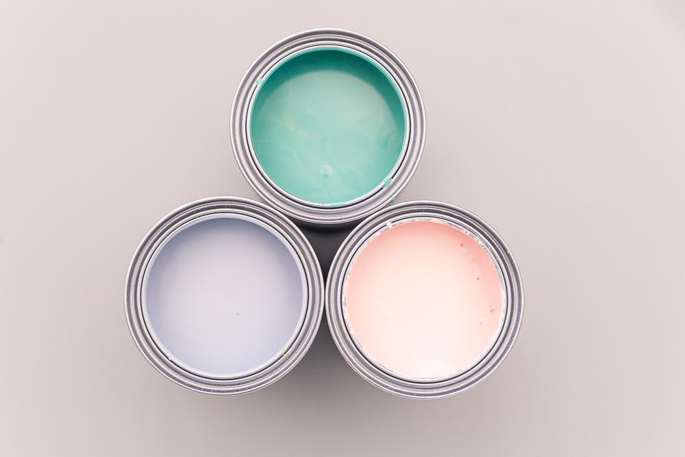 pastel colour chalk pain DIY project