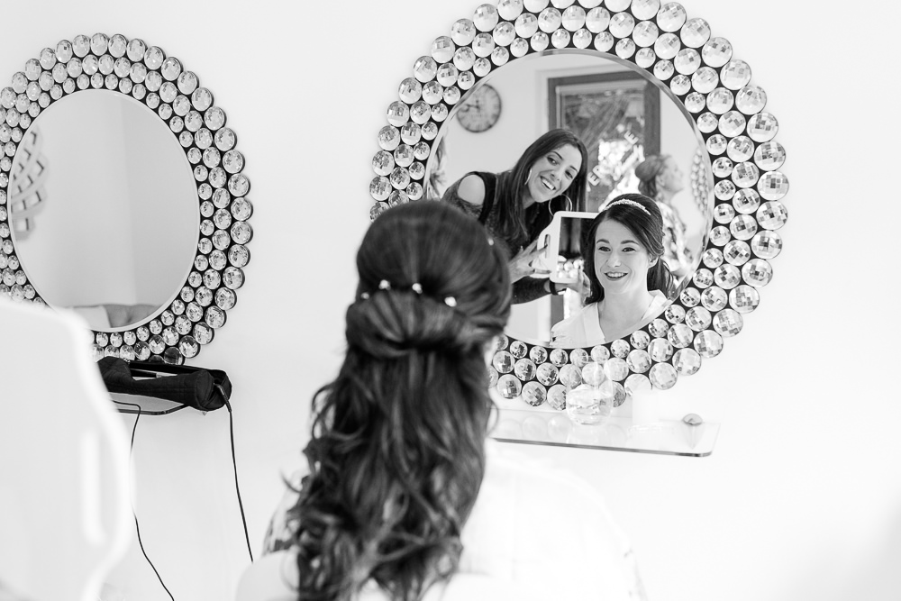 Wedding hair and make up at Rivervale Barn