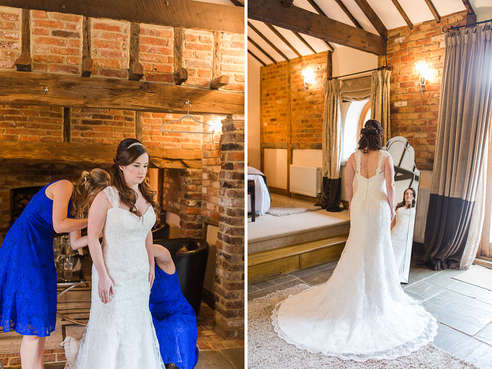 Natural Photos of Bride getting ready at Rivervale Barn