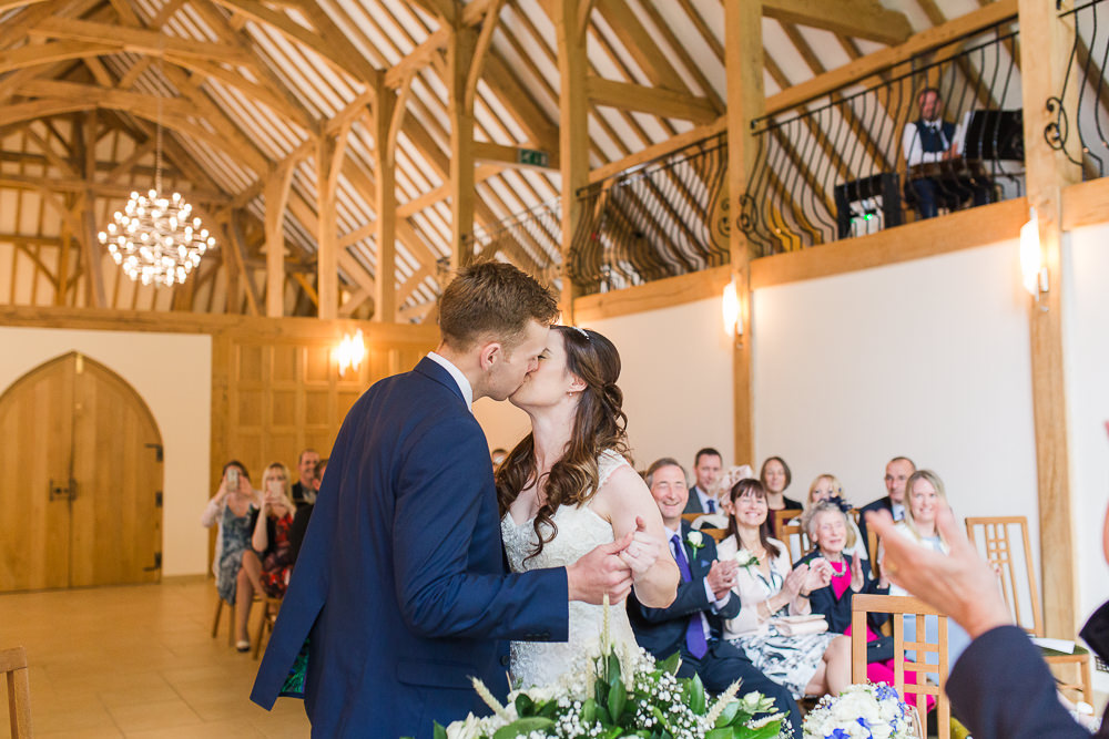 Wedding Ceremony at Rivervale Barn