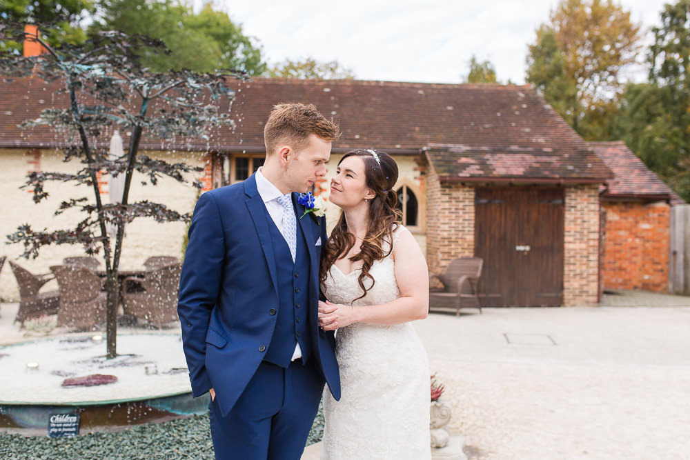 Natural bride and groom photos from Rivervale Barn