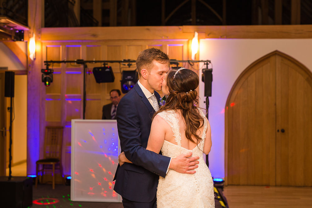 Bride and Groom first dance at Rivervale Barn