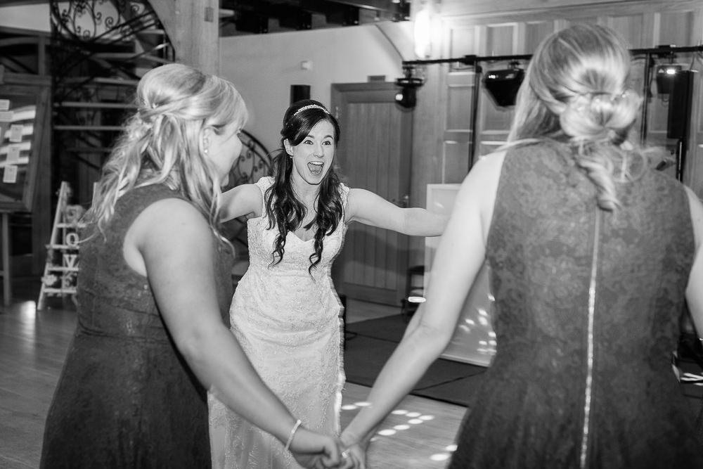 Fun wedding party photos at Rivervale Barn