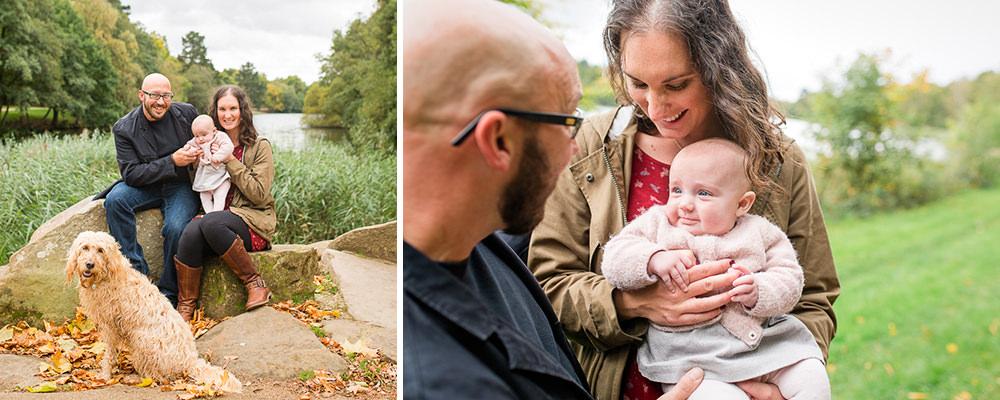 Natural family photos at Virginia Waters