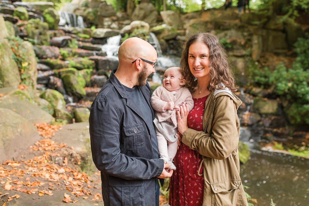 Natural family photo at Virginia Waters