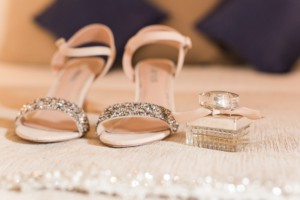 simple sparkly wedding shoes