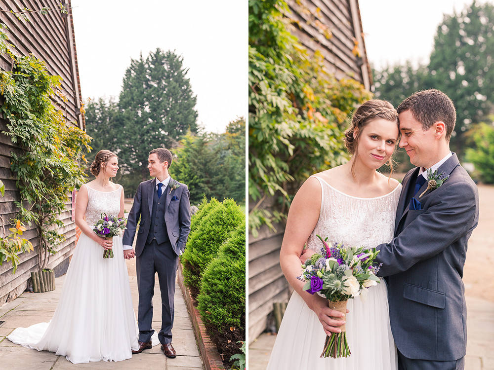 Bride and Groom at Rivervale Barn wedding