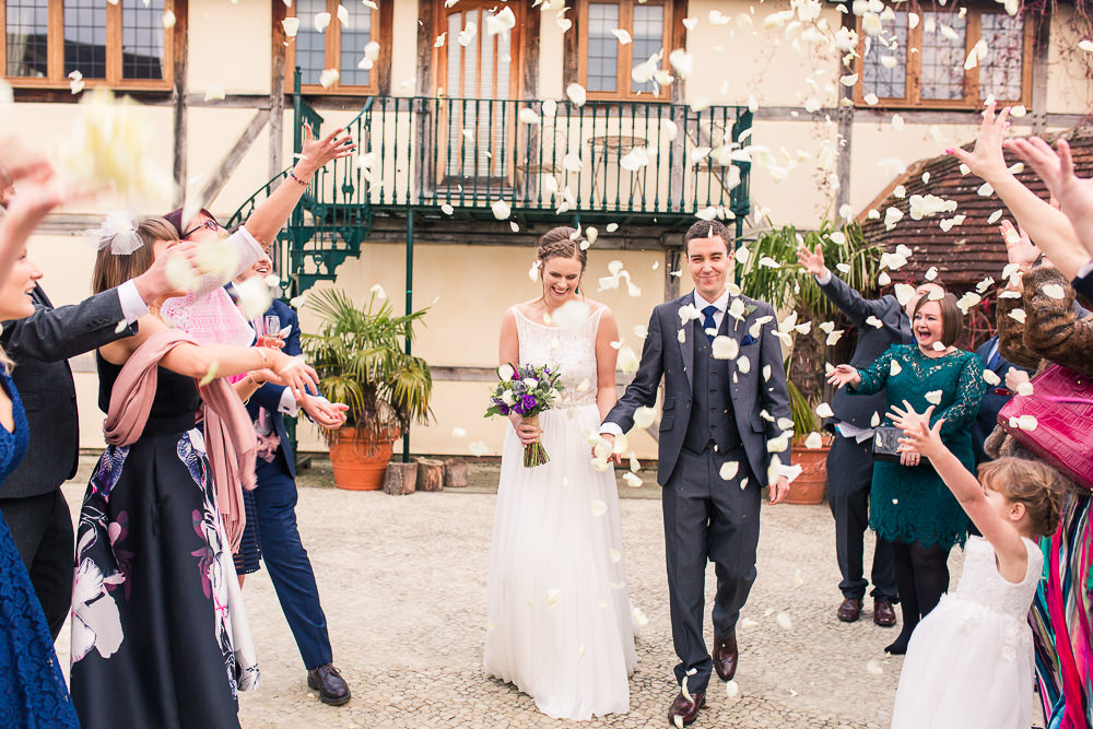 Confetti at Rivervale Barn Wedding