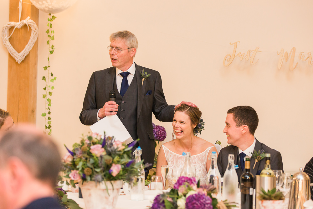 Funny wedding speeches at Rivervale Barn Wedding