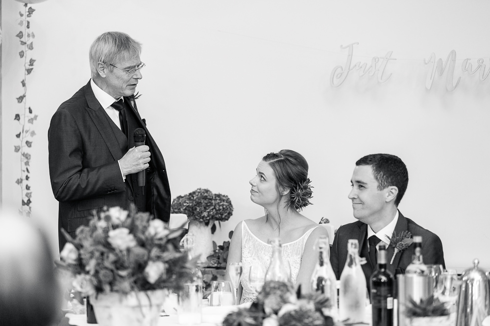 Father of the Bride speech at Rivervale Barn wedding