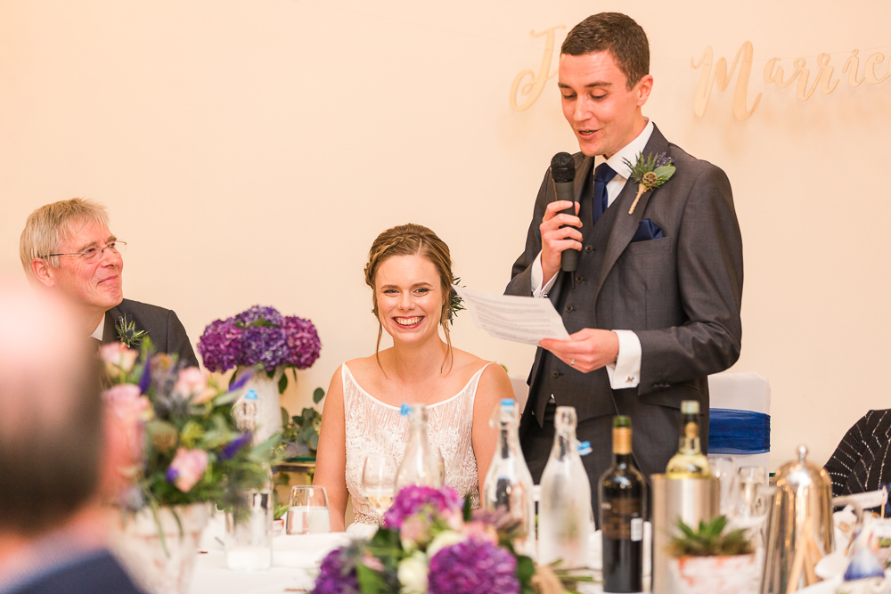 Groom speech at Rivervale Barn wedding