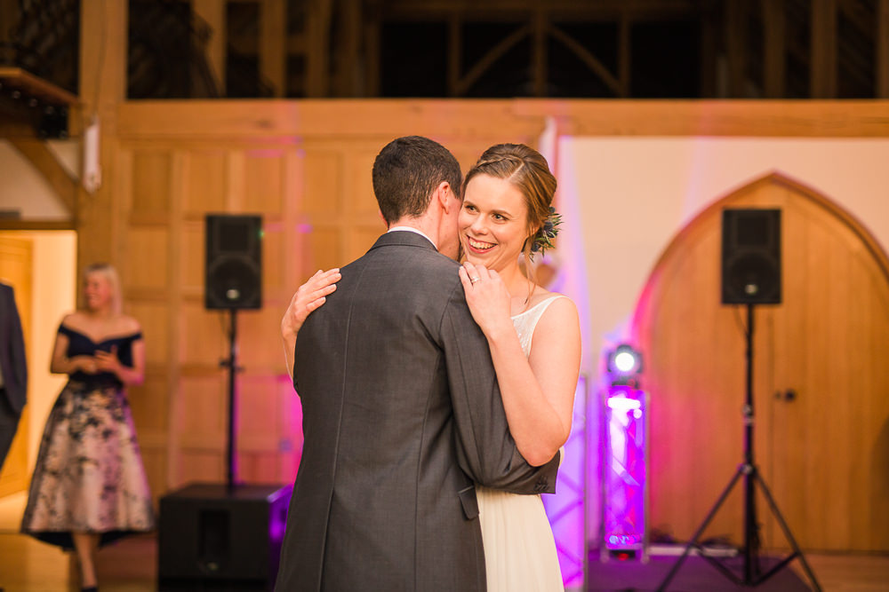 Bride and Groom first dance at Rivervale Barn wedding