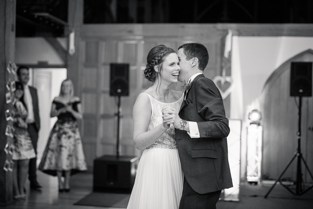 First dance at Rivervale Barn wedding
