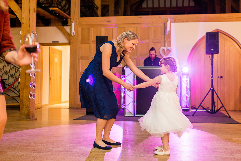 Fun party at Rivervale Barn wedding