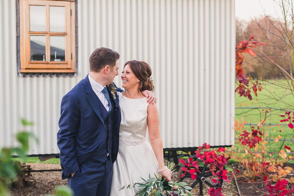 winter wedding at gate street barn