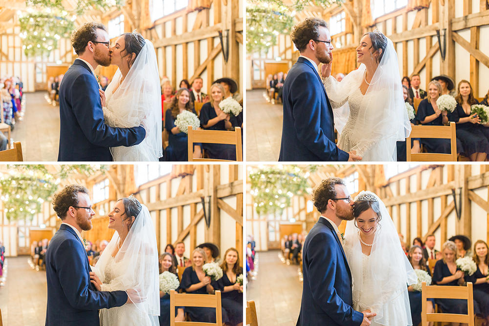 wedding ceremony at Gate Street Barn