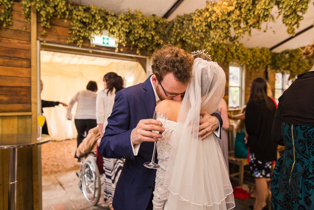 natural wedding photo at Gate Street Barn
