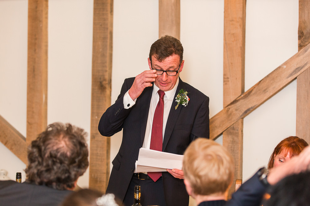 father the bride speech at Gate Street Barn wedding