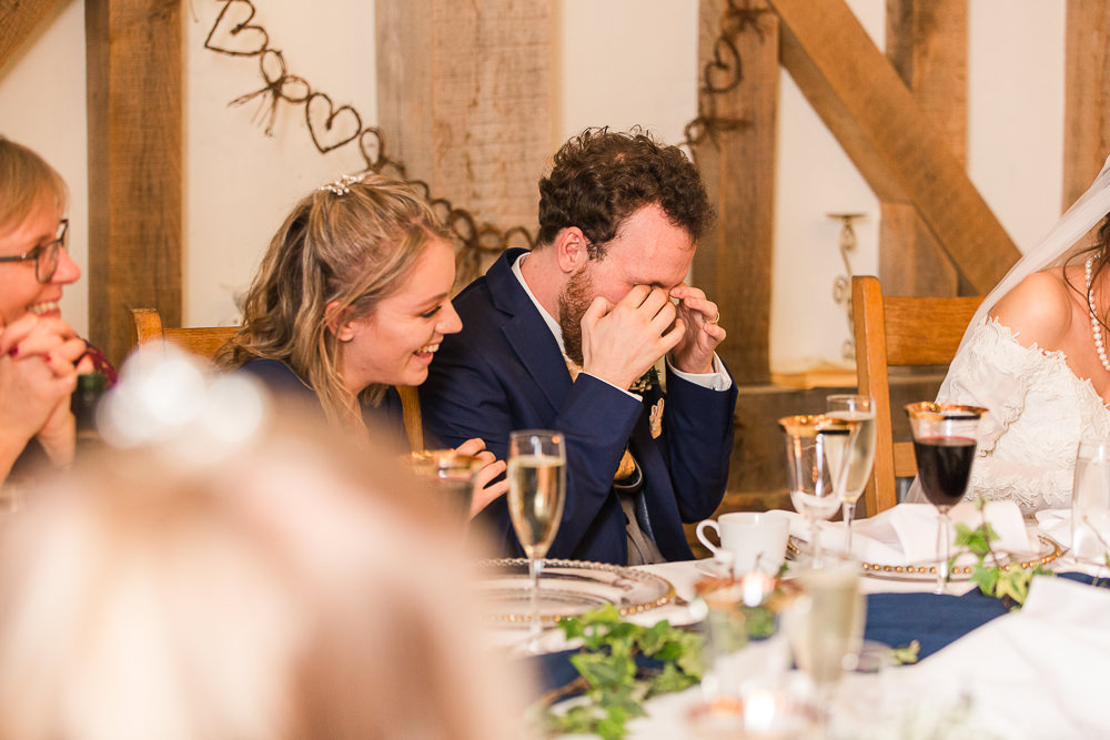 emotional speeches at Gate Street Barn wedding