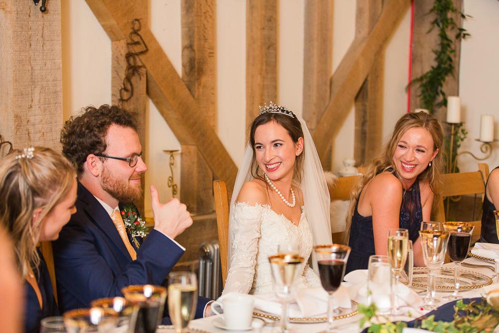 speeches at Gate Street Barn wedding