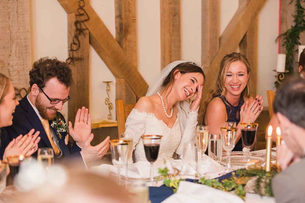 funny speeches at Gate Street Barn wedding