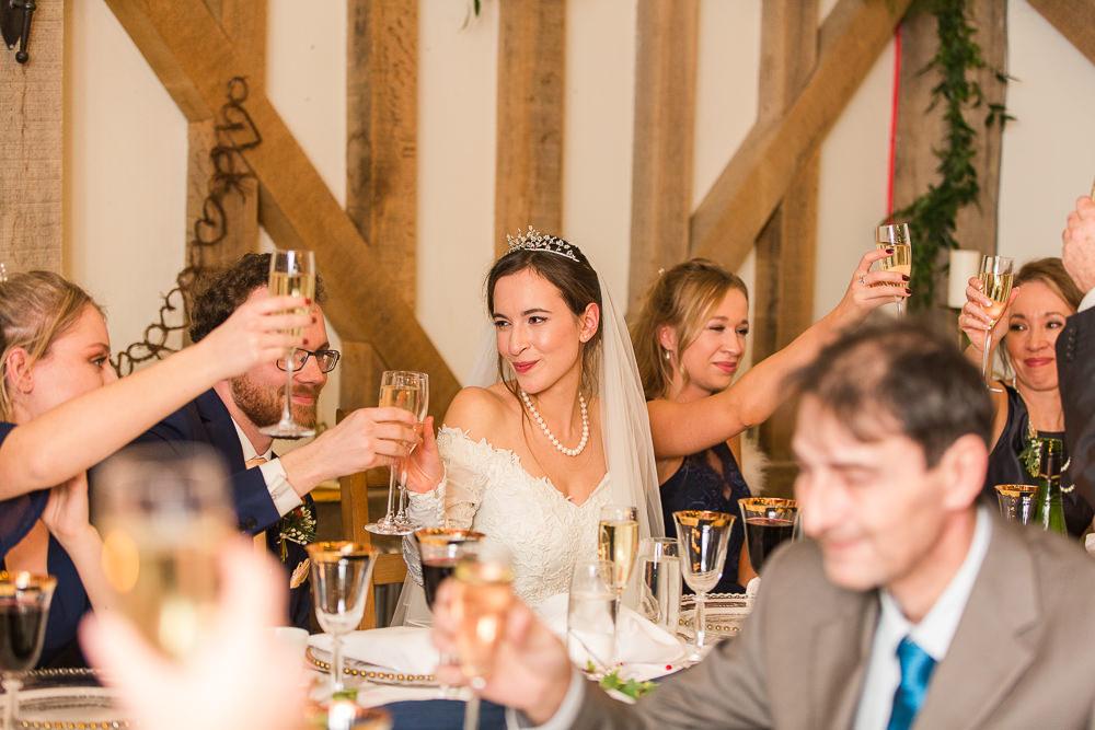 wedding speeches at Gate Street Barn