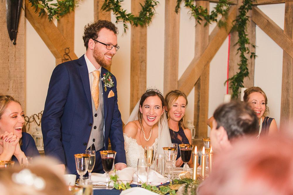 groom speech at Gate Street Barn wedding