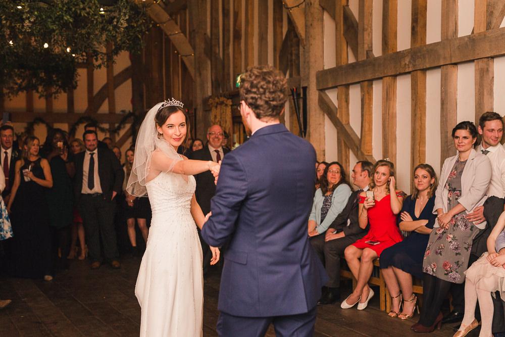 first dance at Gate Street Barn wedding