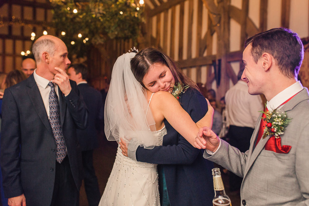 guests congratulating bride at Gate Street Barn wedding