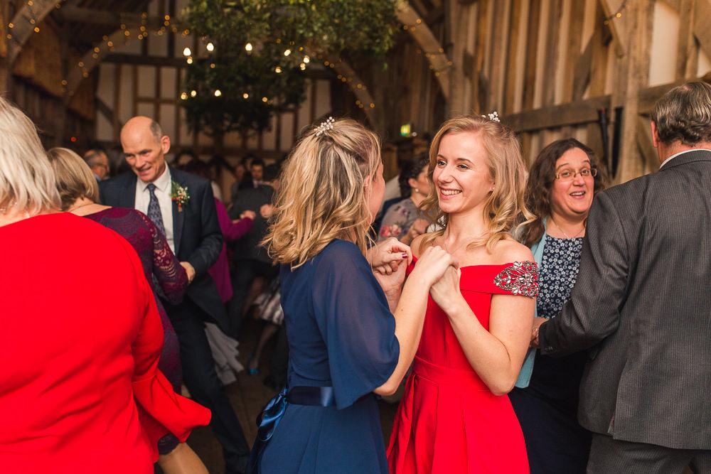 fun wedding party at Gate Street Barn