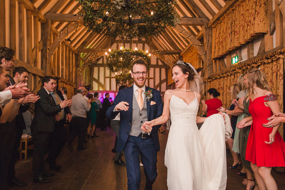 Ceilidh dancing at Gate Street Barn wedding