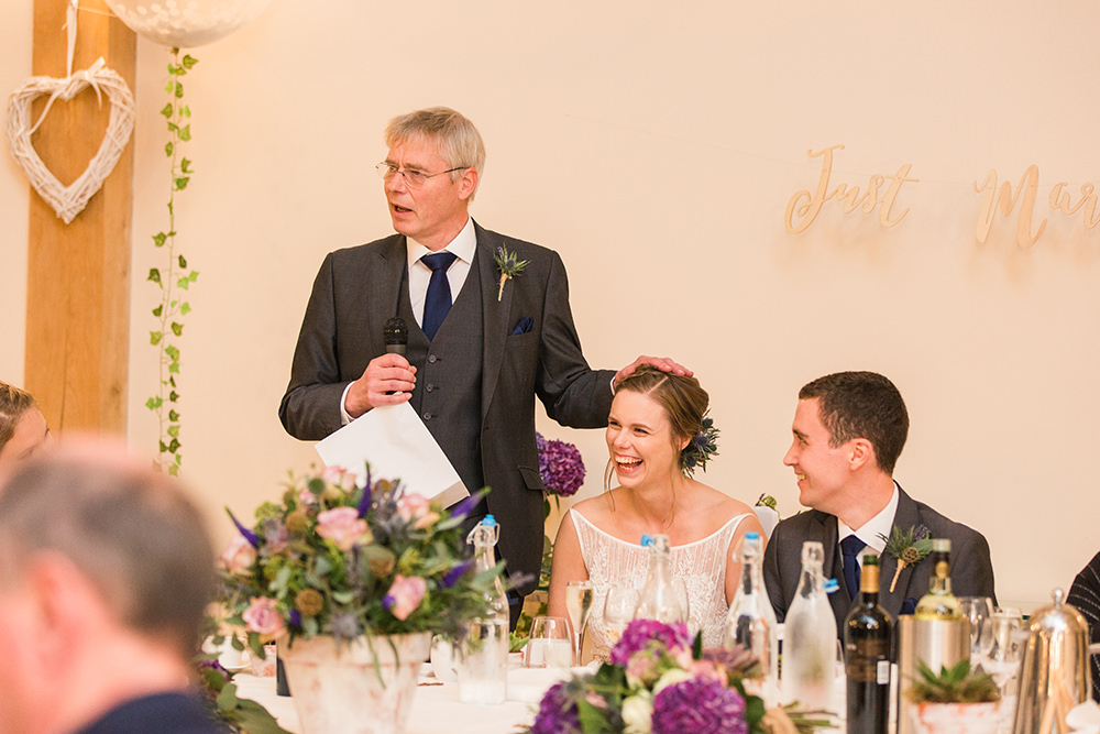 wedding speeches at Rivervale Barn