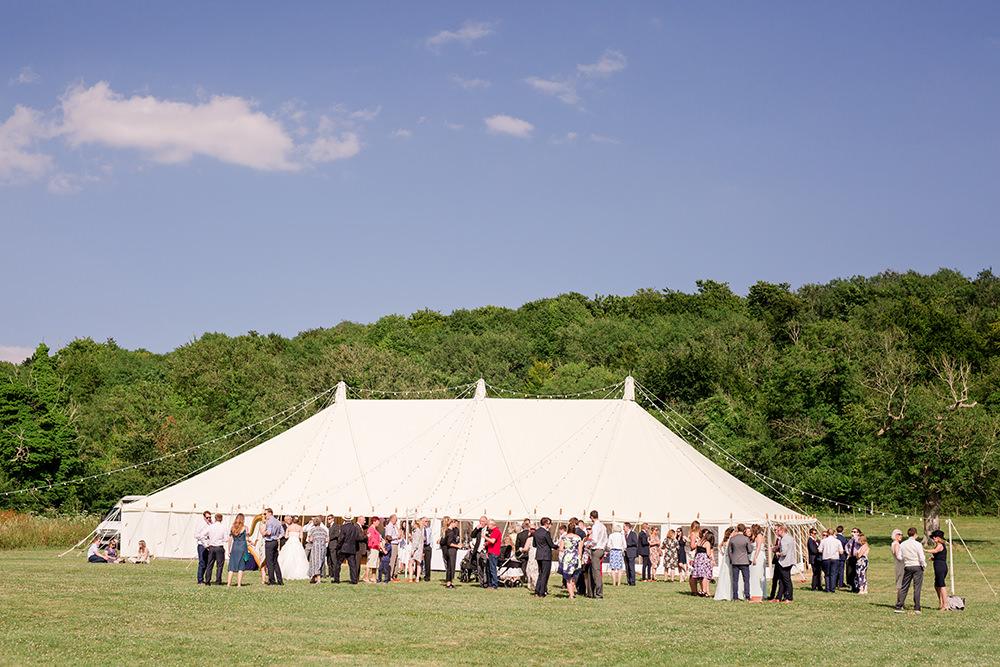 marquee garden party wedding in summer