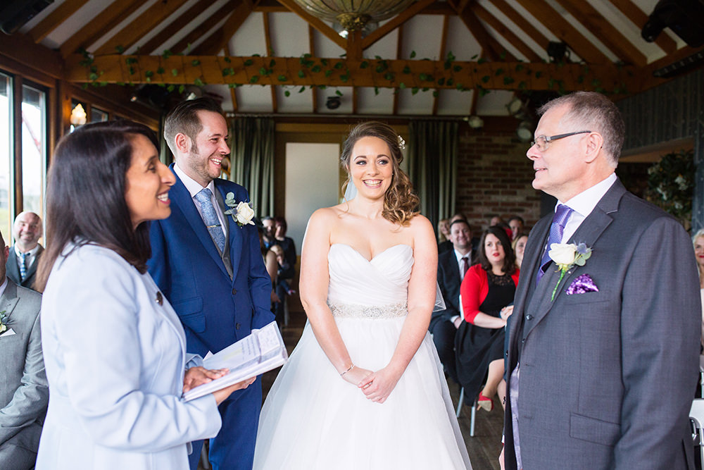 wedding ceremony at Old Thorns
