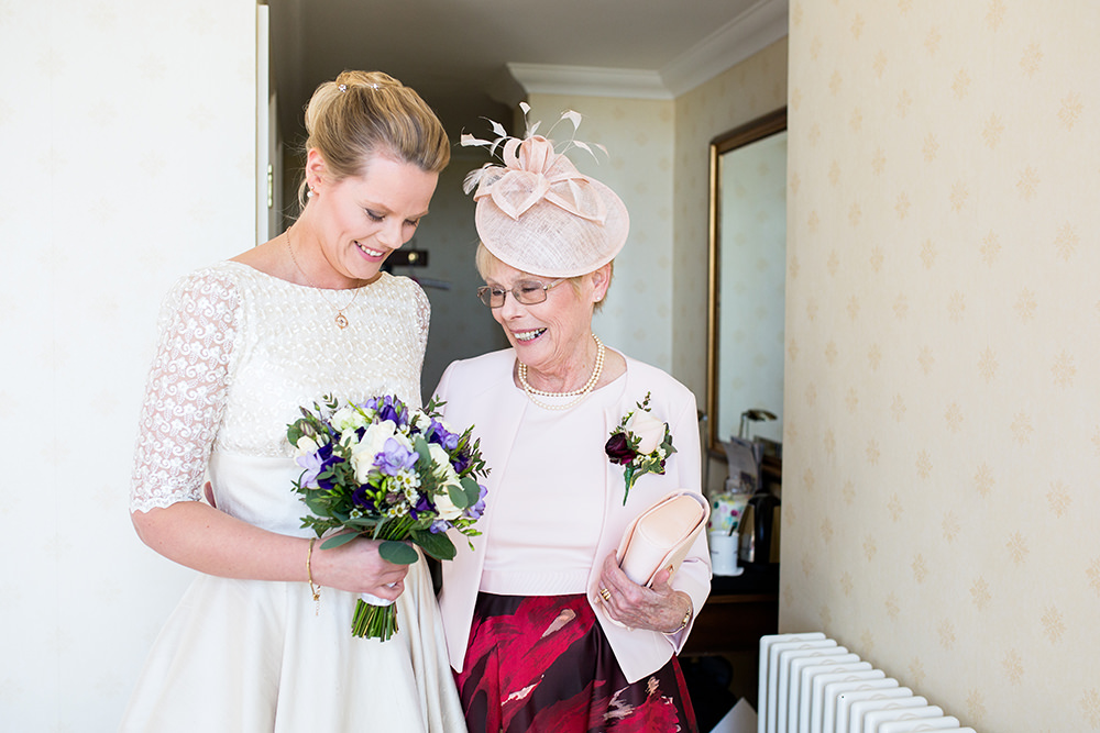 Bride with Mum on wedding day at The Petersham Hotel