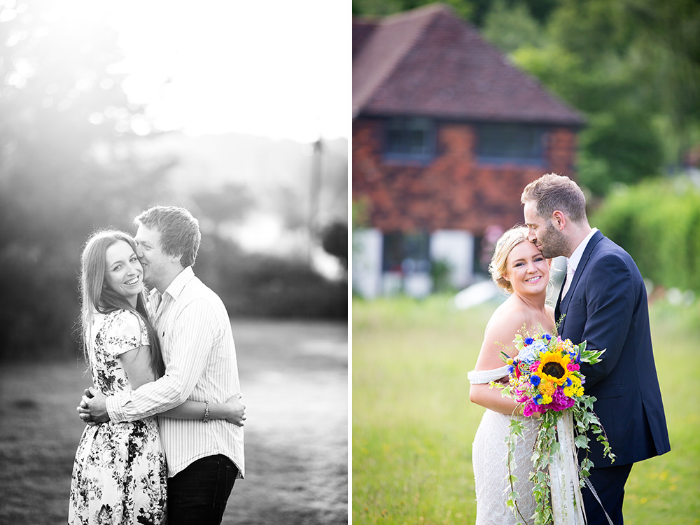 Bride and Groom at The Four Horseshoes Pub Wedding