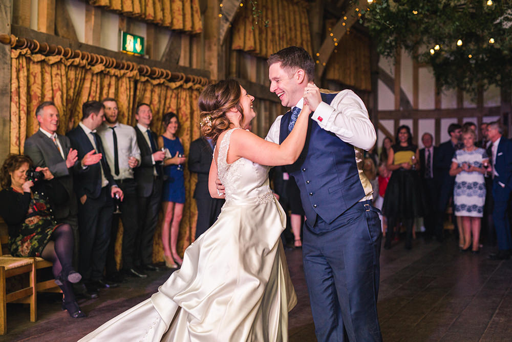 Bride and Groom first dance at Gate Street Barn