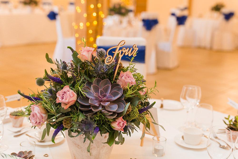 Wedding flowers at Rivervale Barn wedding