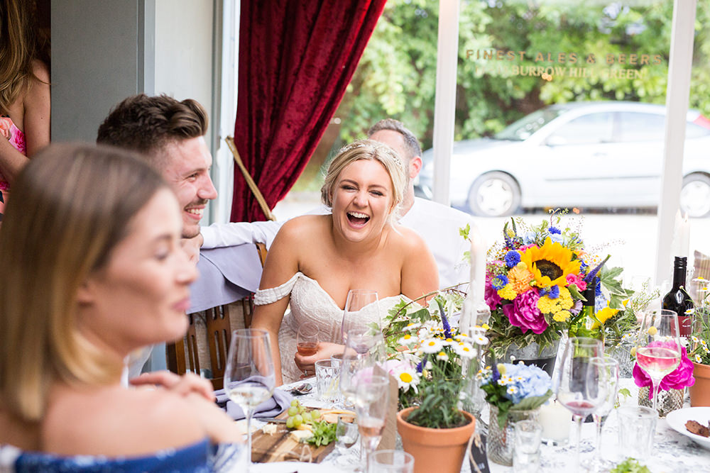 funny speeches at The Four Horseshoes pub wedding