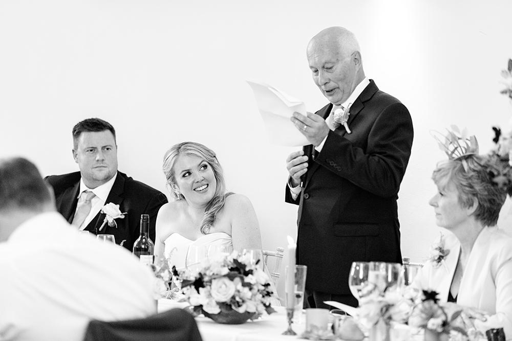 Father of the Bride speech at Millbridge Court Wedding