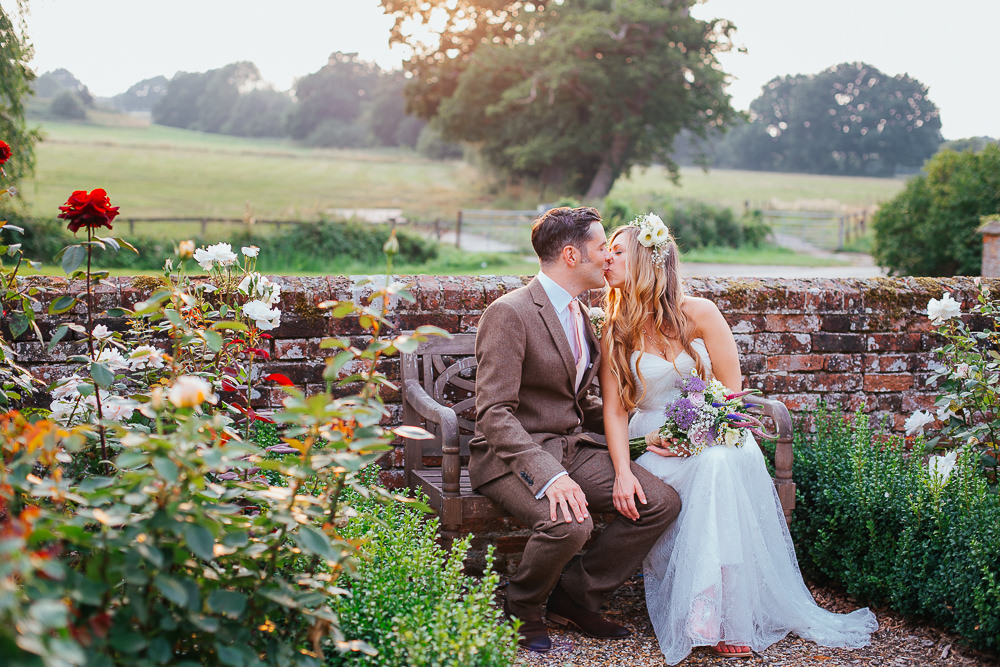 natural wedding photo of bride and groom