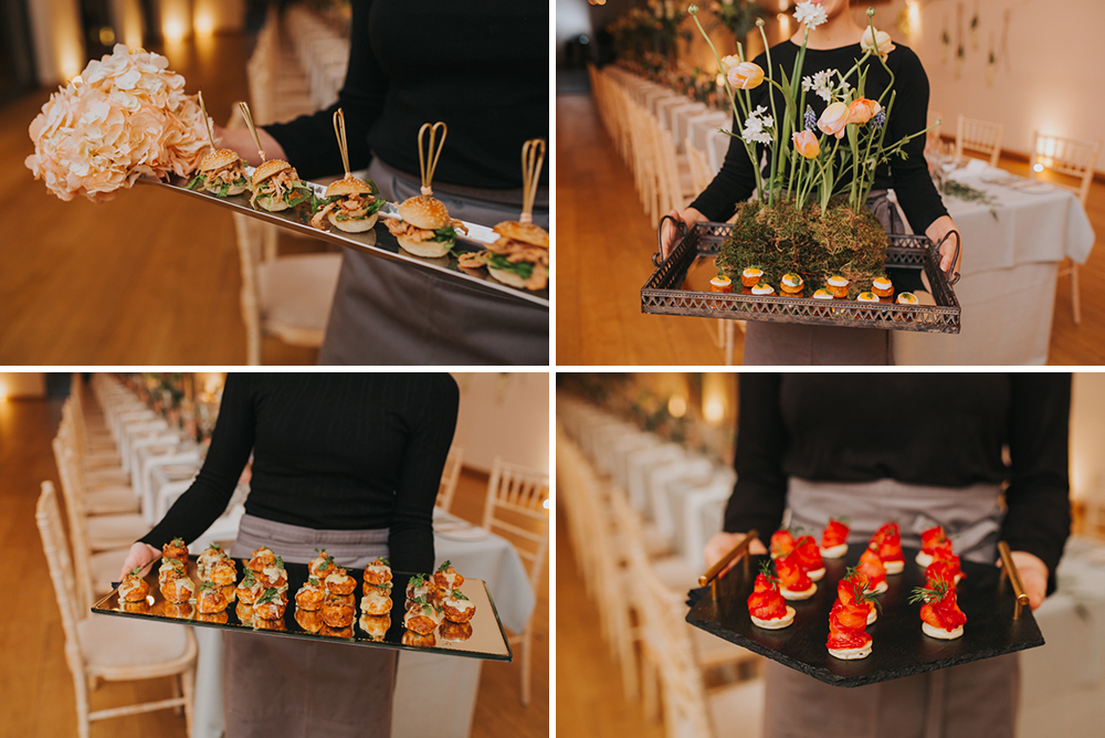 mill bridge court wedding canapés