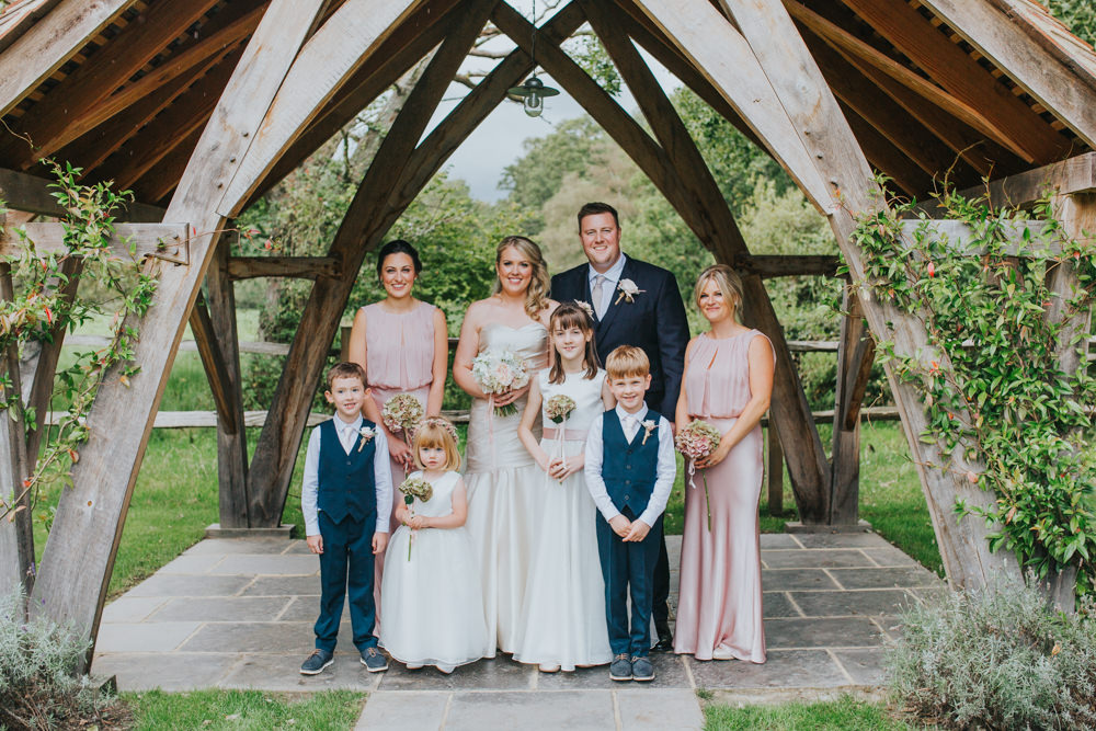 family photos at Millbridge Court Wedding