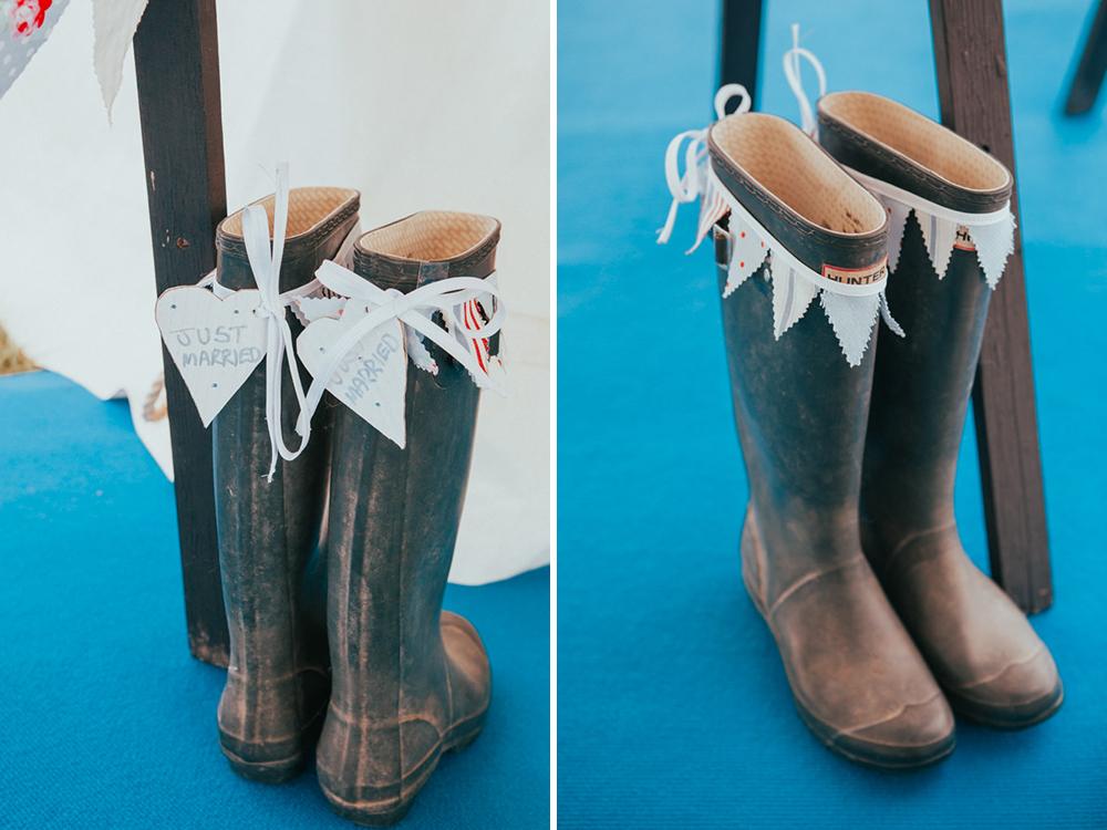 Wedding Day Wellington Boots